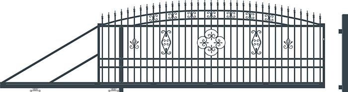 ALICE brána posuvná LEVÁ, šířka 4000 x výška 1690 mm