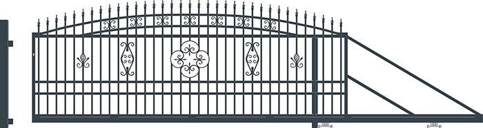 ALICE brána posuvná PRAVÁ, š. 4000 x v. 1690 mm 4Kg