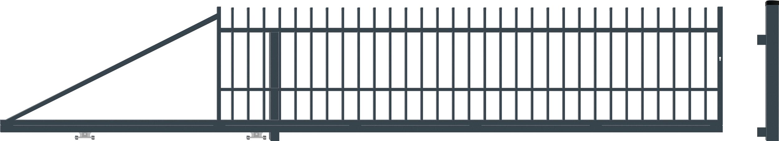 BARCELONA brána posuvná LEVÁ šířka 4000 x výška 1040 mm