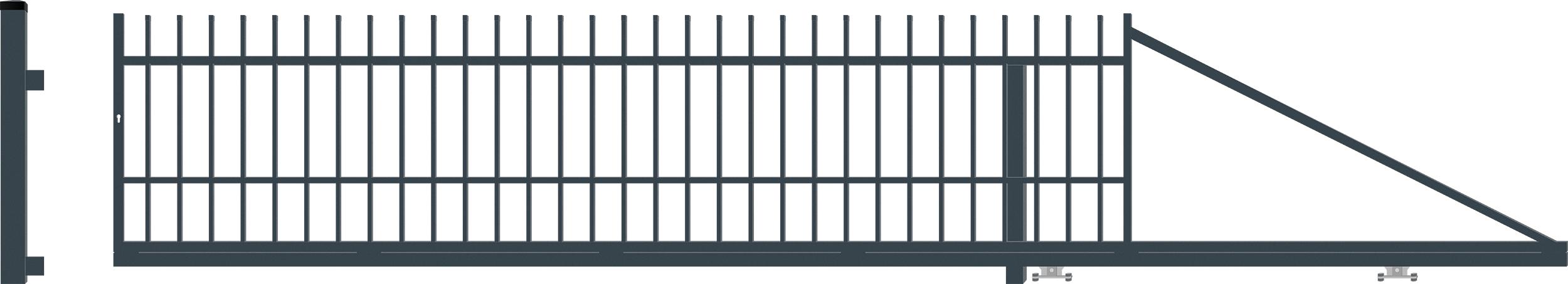 BARCELONA brána posuvná PRAVÁ šířka 4000 x výška 1040 mm