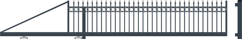 OXFORD brána posuvná LEVÁ šířka 4000 x výška 940 mm