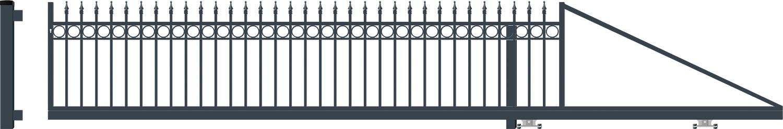 OXFORD brána posuvná PRAVÁ šířka 4000 x výška 940 mm