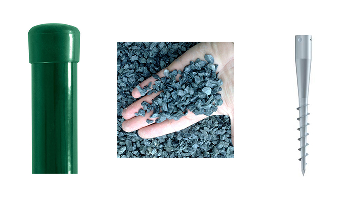 Sada - sloupek Zn+PVC s vrutem pro výšku pletiva 1000 mm 4Kg