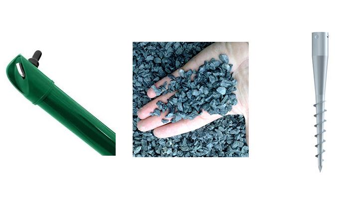 Sada-vzpěra Zn+PVC  s vrutem pro v. pletiva 125 cm5Kg