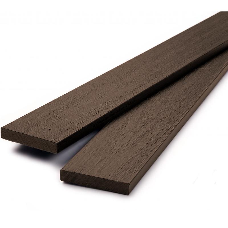 Dřevoplus profi 80x15x délka na míru v mm plotovka, hlava rovná barva:: walnut