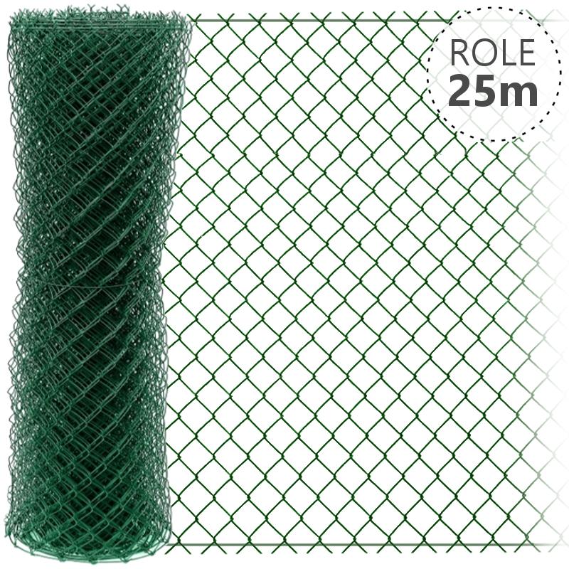 Pletivo Zn+ poplastované IDEAL 1,65/2,5/zelené/role 25m s ND, 1000 mm 4Kg