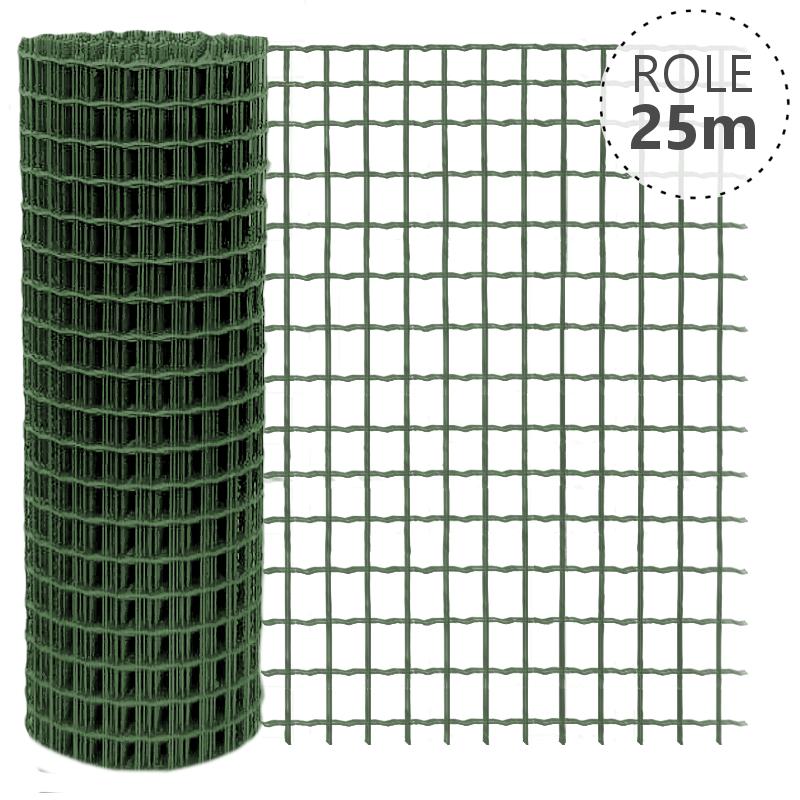Svařované pletivo Pilonet Super Zn+PVC, oko 50 x 50mm, síla drátu 3,0mm, role 25m, barva zelená výška v mm: 1800 mm