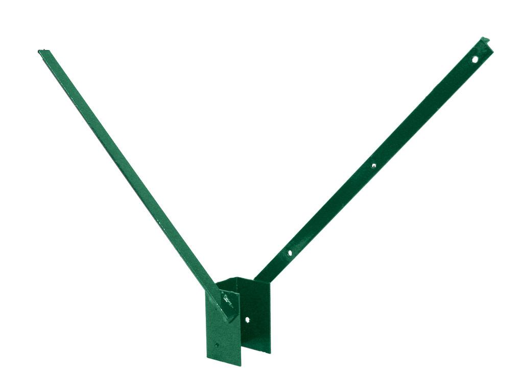 Bavolet 2-stranný na sloupek 60x60 mm-Zn+PVC zelená