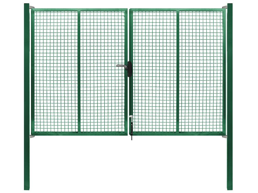 Brána Pilgate, svařovaná síť 50x50mm, zámek, šířka 4020mm x Výška v mm:: 1950 mm60Kg