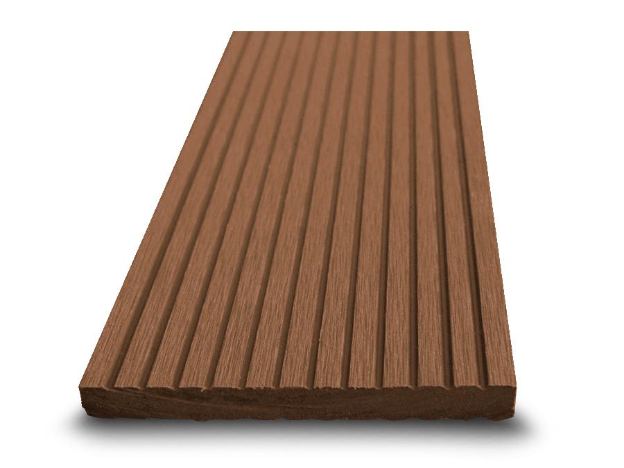 Dřevoplast WPC plotovka 100x10 mm, drážkovaná, rovná, zlatý dub barva  zlatý dub, Délka v mm: 2900 mm