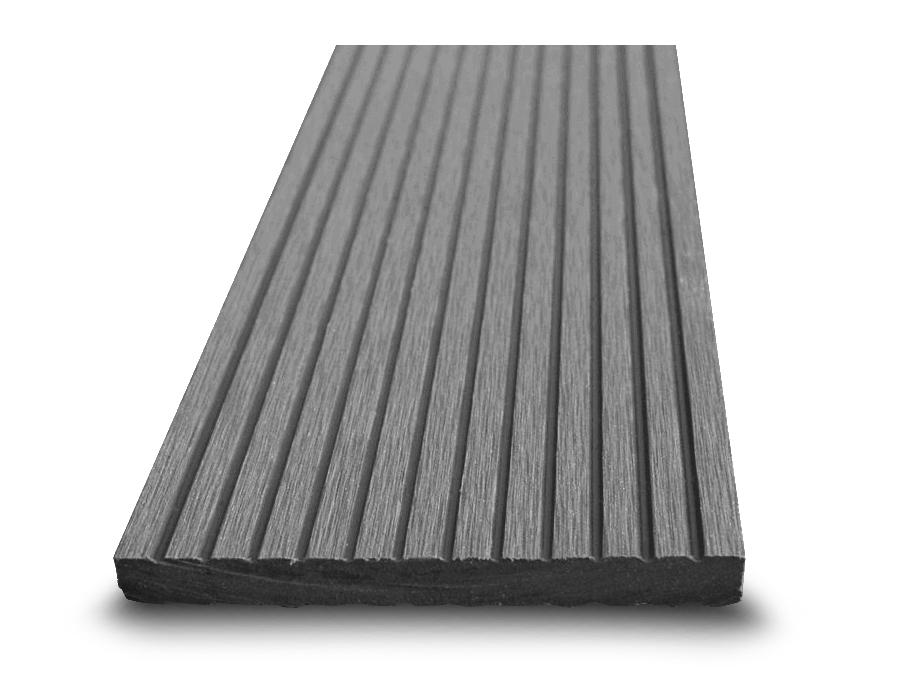 Dřevoplast WPC plotovka 100x10 mm, drážkovaná, rovná, šedá barva  šedá, Délka v mm: 2900 mm