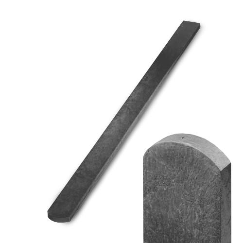 Plotovka recyklát šedá půlkulatá 21x78 mm x dle výběru Délka v mm:: 1200 mm