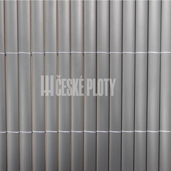 Bambus umělý šedý 12 mm, výška dle výběru / role 3 m výška v mm: 1000