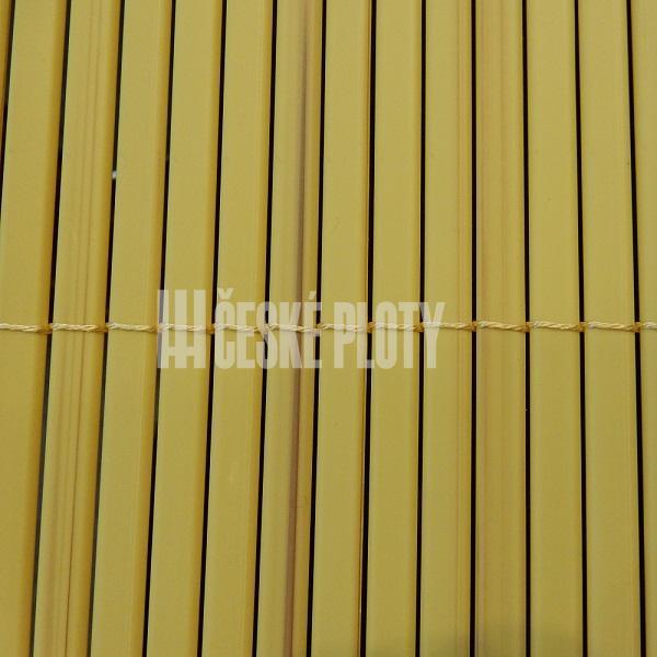 Bambus umělý žlutý 12 mm, výška dle výběru / role 3 m výška v mm: 1000