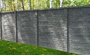 Betonový sloupek oboustranný 3000 x 120 x 120 mm - antracit