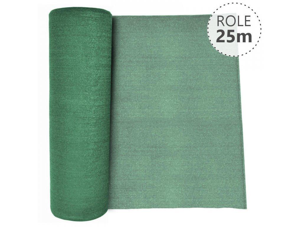 Stínící tkanina 92% - 180 g/m2 - výška dle výběru, role 25 m, barva zelená Výška stínicích tkanin: 200 cm