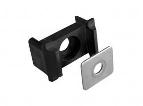Úchyt panelu na sloupek 60x40 osazení+kovový přítlak, PVC Černá 4Kg