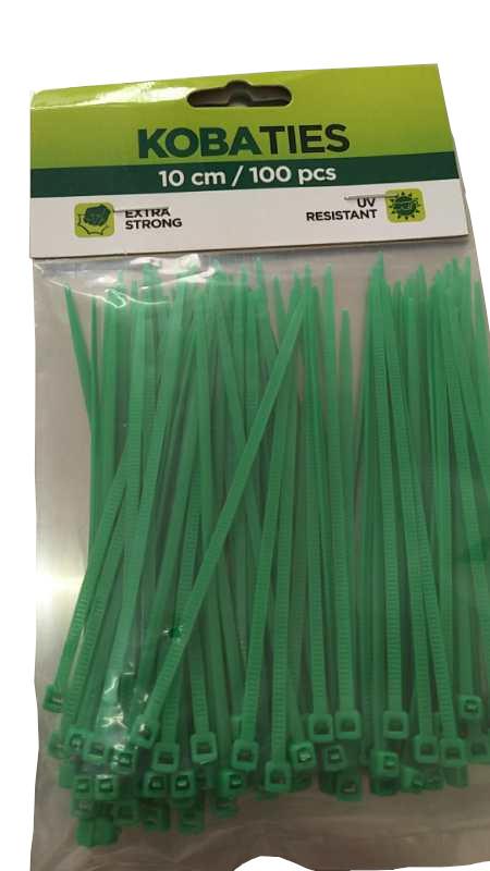 Vázací pásky 100 mm, 100 ks v balení Zelená 4Kg