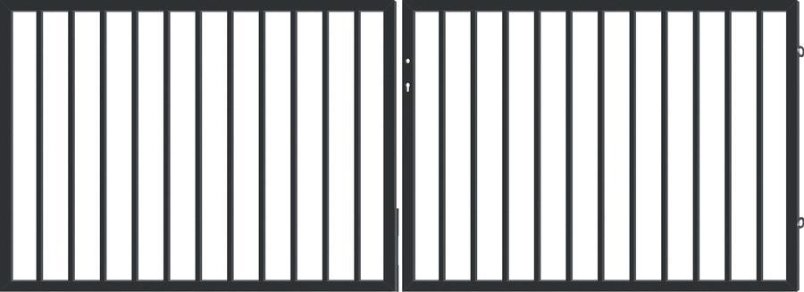 PARIS LUX brána dvoukřídlá, šířka 4000, výška 1100 mm
