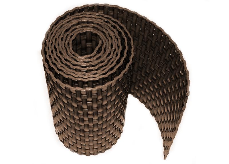Ratanová zástěna výška 90mm, délka 3m Barva ratanu: Hnědá