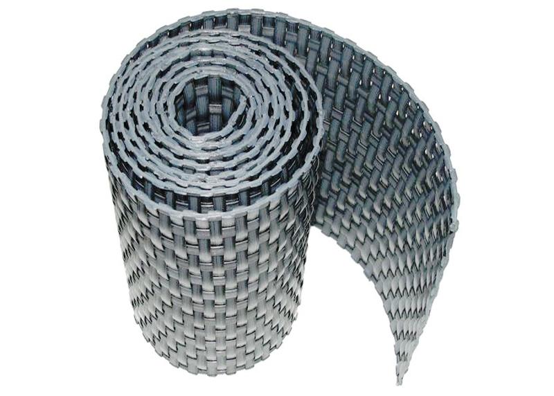 Ratanová zástěna výška 90mm, délka 3m Barva ratanu: Světle šedá