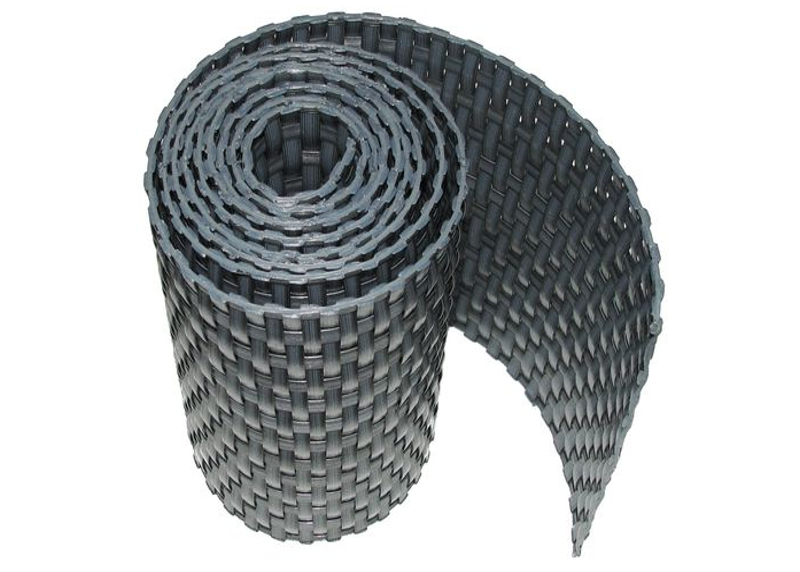 Ratanová zástěna výška 90mm, délka 3m Barva ratanu: Tmavě šedá