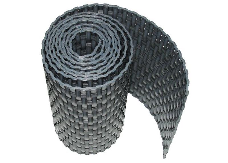 Ratanová zástěna výška 200cm, délka 5m Barva ratanu: Tmavě šedá