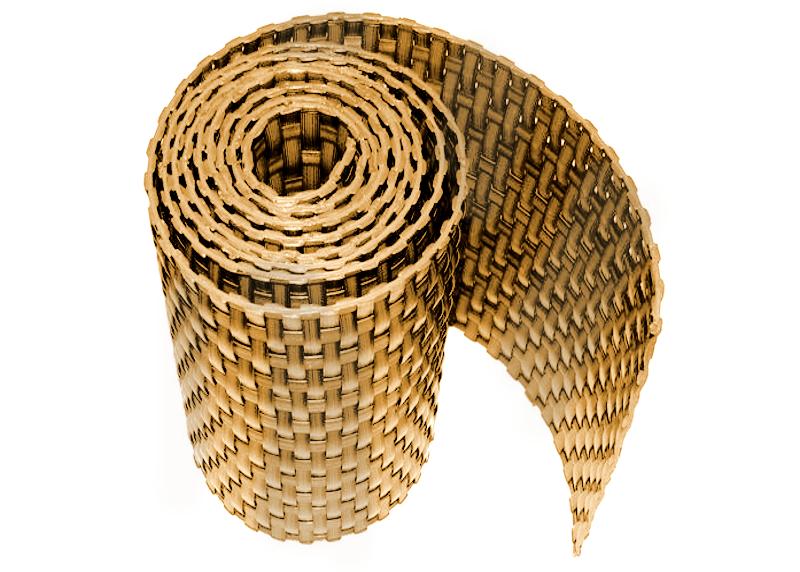 Ratanová zástěna výška 200cm, délka 20m Barva ratanu: Žíhaná hnědá