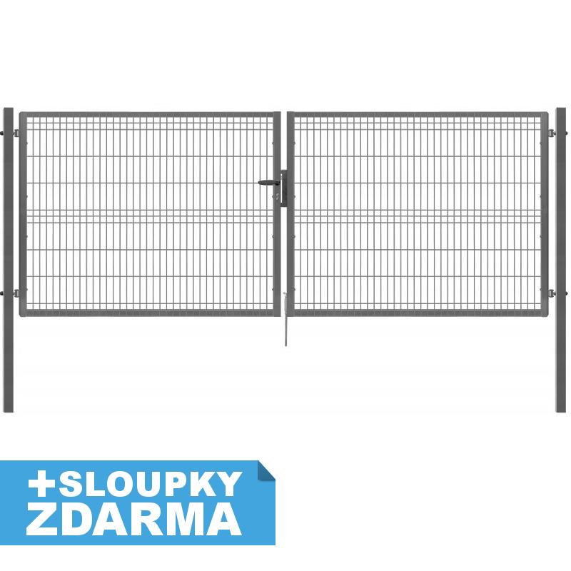 Ideal brána Pilofor Zn v. 174,5 cm š. 411,8 cm se zámkem 55Kg
