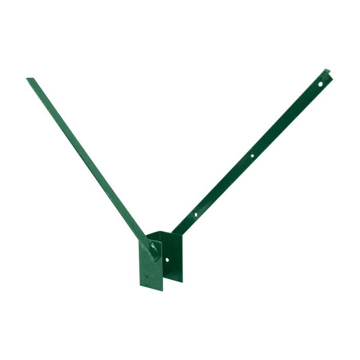 Bavolet 2-stranný na sloupek 60x40 mm-Zn+PVC balení PLOTY | 0,84Kg