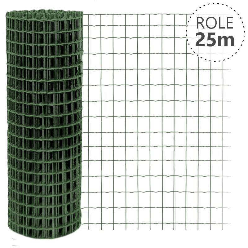 Svařované pletivo Pilonet Middle, oko 50 x 100mm, barva zelená, délka role 25 m Výška v mm  600 mm
