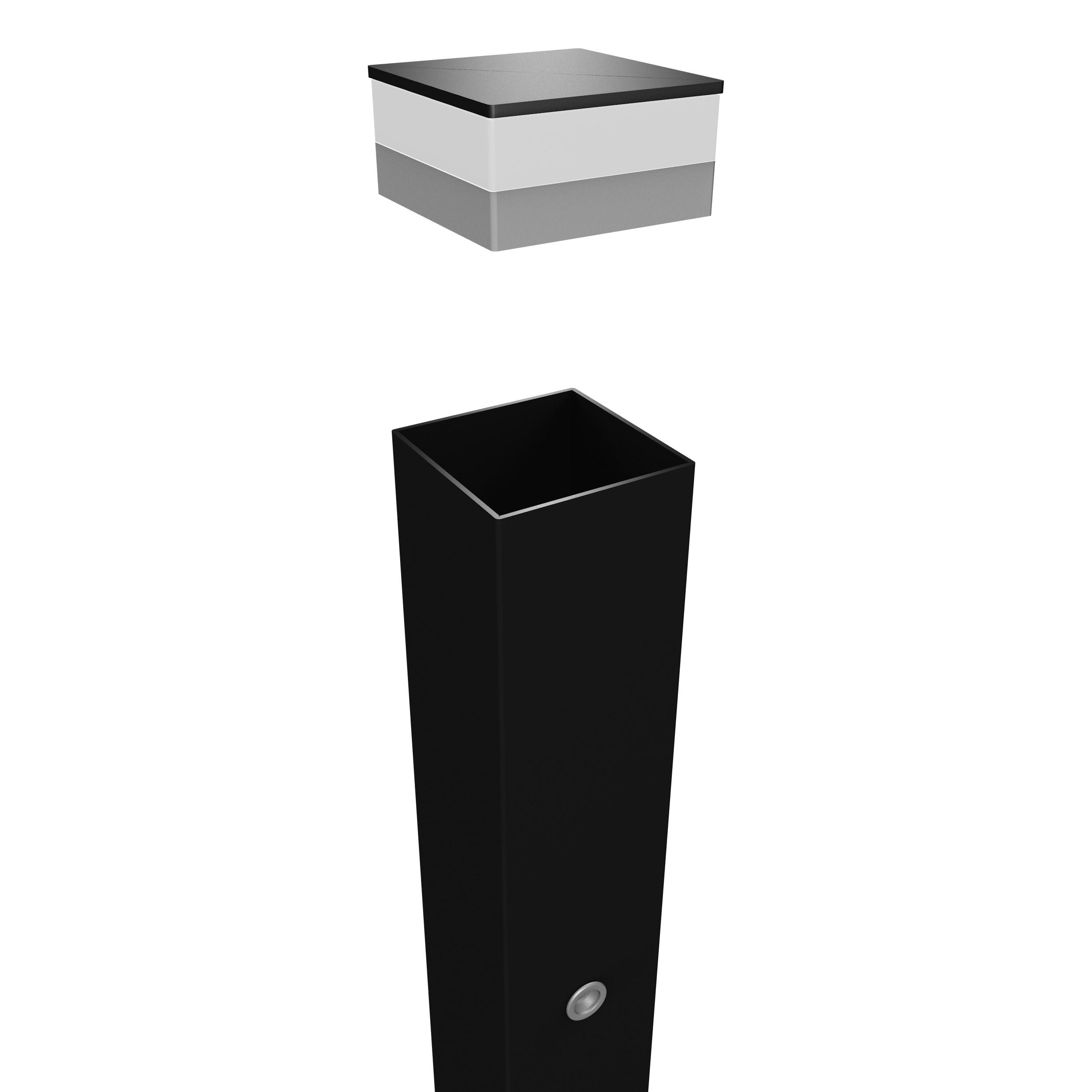 Sloupek 10x10x220 cm s LED-prostorovým osvětlením balení PLOTY | 13Kg