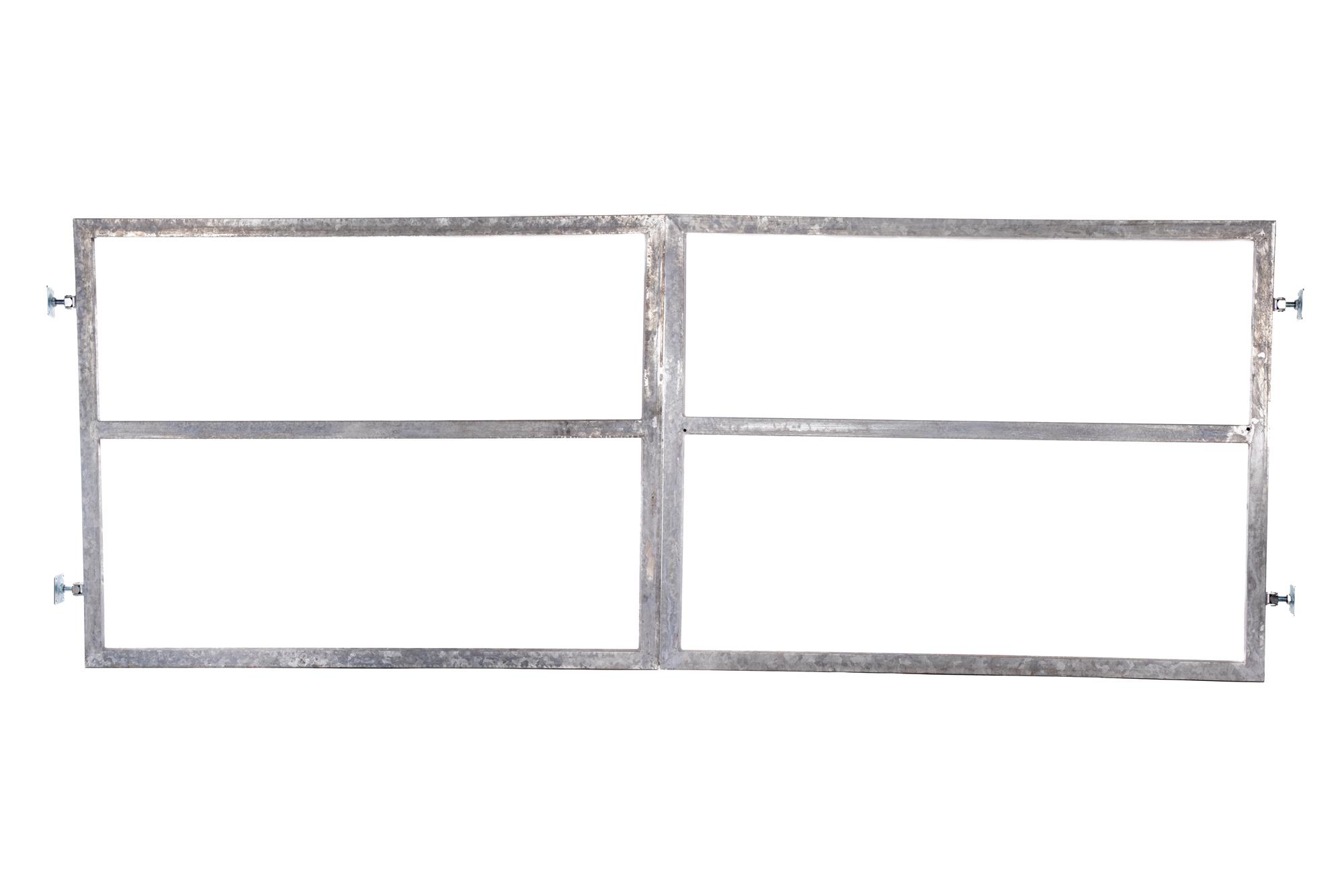 Rám brány pro vlastní výplň v. 1500 mm bez kování, s příčníkem pro pohon balení PLOTY | 4Kg