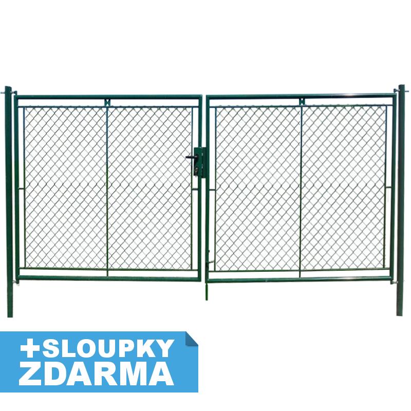 Zahradní brána celovýplet š.4000mm x v.1500mm FAB vč. sloupků balení PLOTY | 4Kg