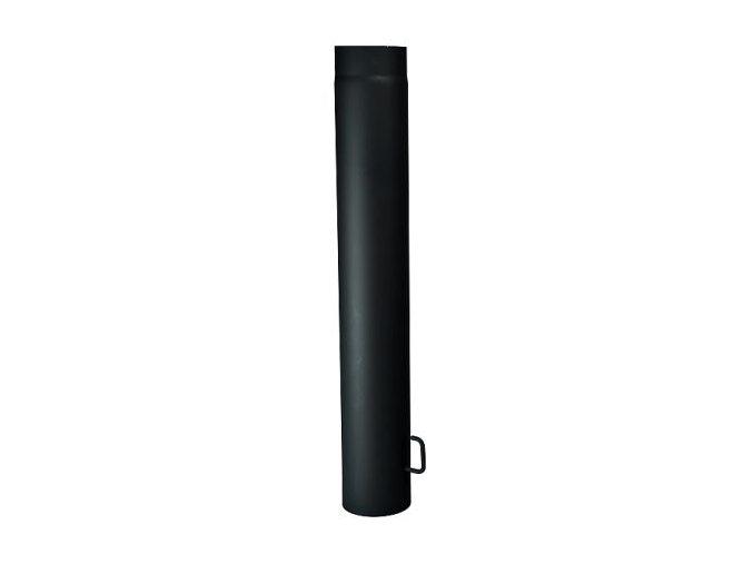 Kouřovod - rovný díl 1 m s klapkou,⌀150