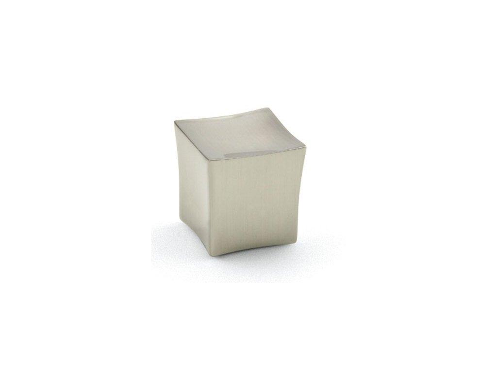 Tulip nábytková knopka Block imitace nerezi, 42099, rozteč