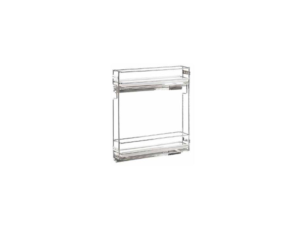 Výsuvný drátěný koš 150 s plast.miskami (: levý)