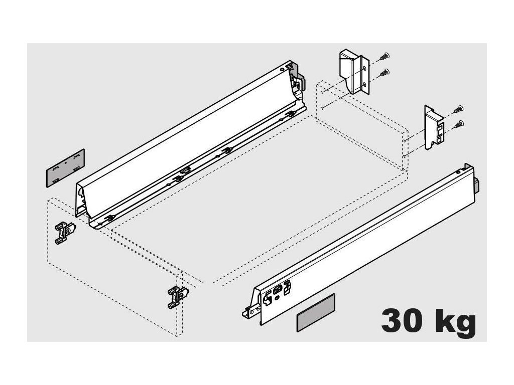 Blum výsuv Tandembox Antaro N/500mm, šedý, 30kg, 254388