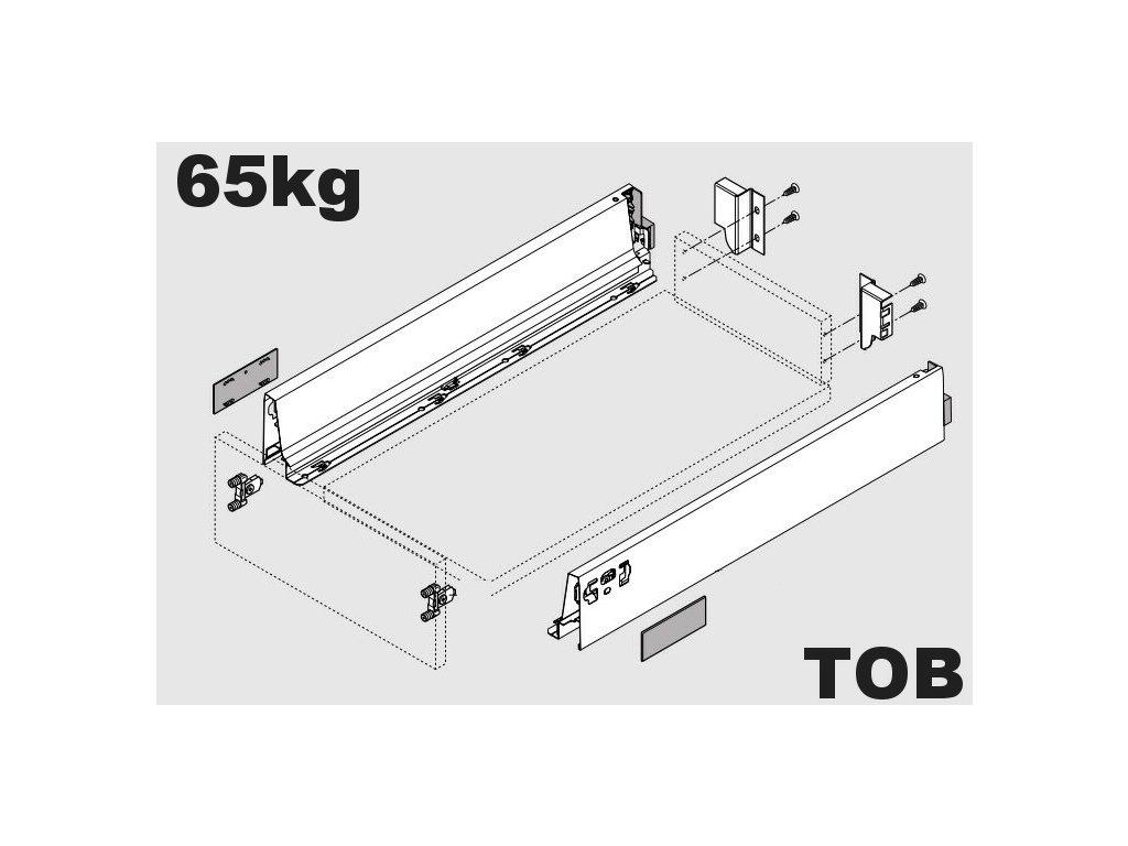 Blum výsuv Tandembox Antaro TOB M/600mm, šedý, 65kg, 255148