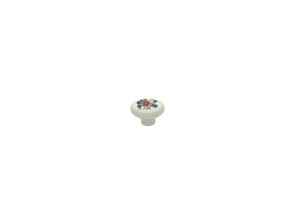nábytková knopka porcelánová Pepina , 1801-1, rozteč