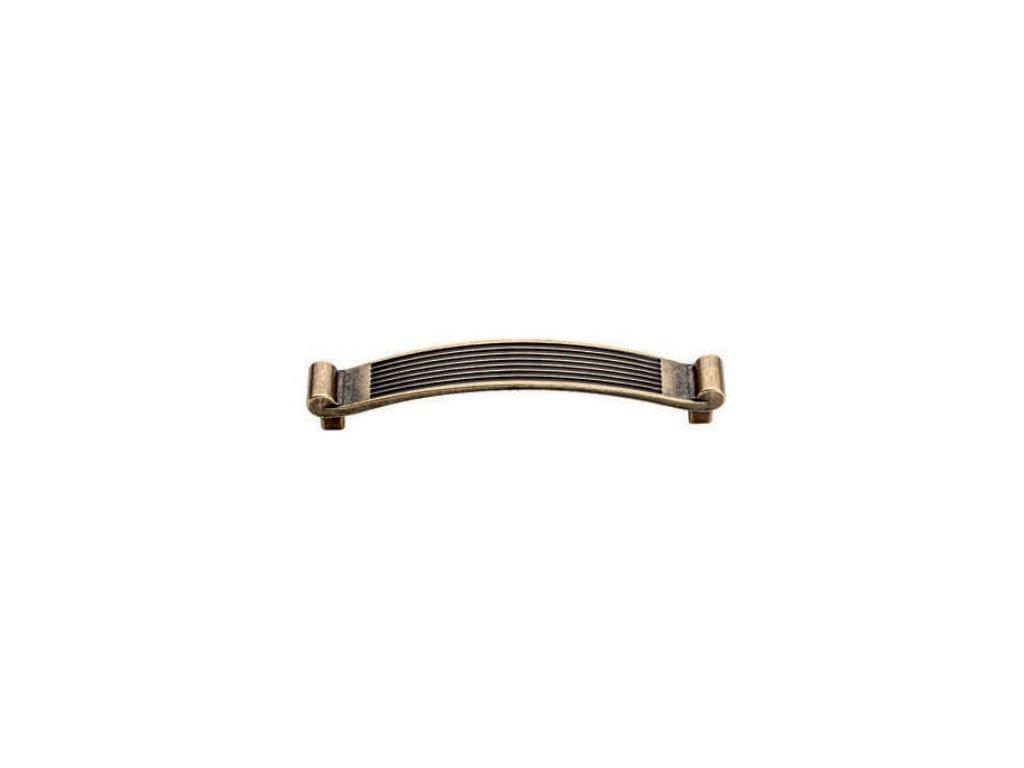 nábytková úchytka rustikální Věrka staromosaz, 377128-Z, rozteč 128mm