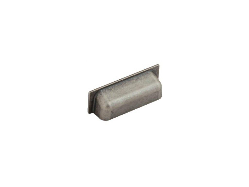 nábytková úchytka rustikální Luka starostříbro, R110128-Z, rozteč 128mm