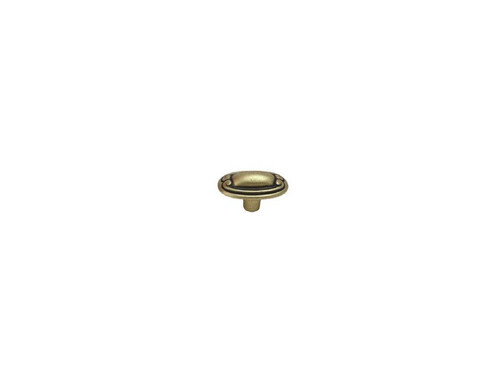 nábytková knopka rustikální Karla staromosaz, 125-Z, rozteč