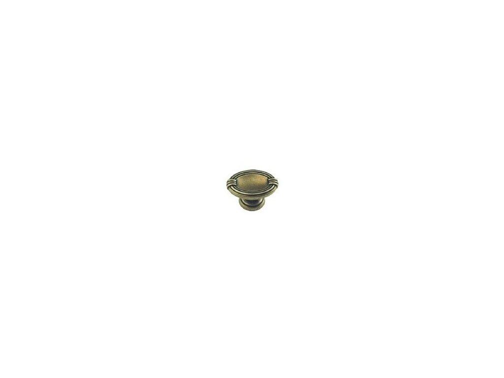 nábytková knopka rustikální Bara staromosaz, 325-Z, rozteč