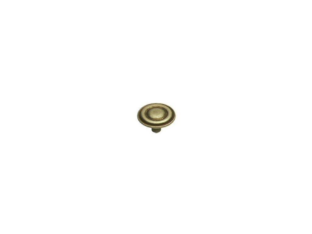 nábytková knopka rustikální Monika staromosaz, 405-Z, rozteč