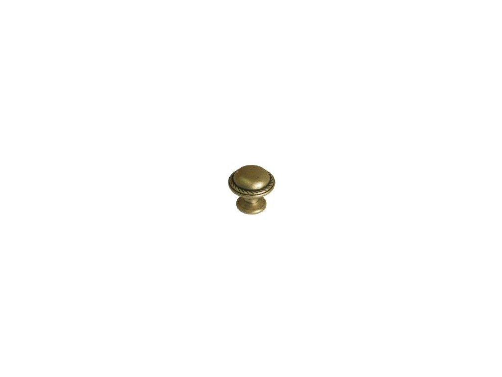 nábytková knopka rustikální Lik staromosaz, 365-Z, rozteč