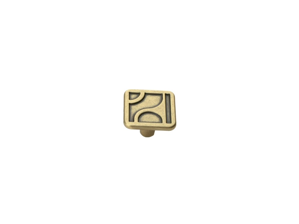 nábytková knopka rustikální Arum staromosaz, 165-Z, rozteč