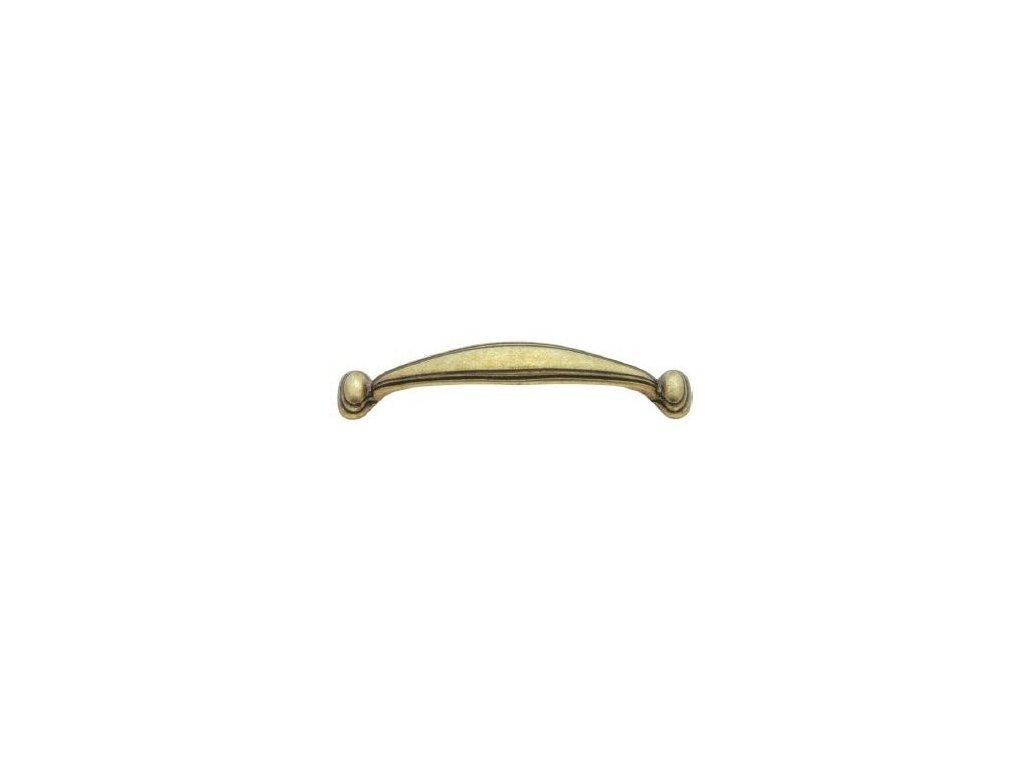 nábytková úchytka rustikální Lena staromosaz, 196-Z, rozteč 96mm