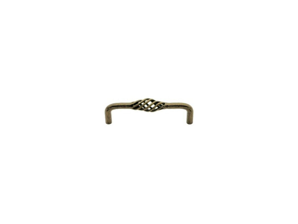 nábytková úchytka rustikální Cilka staromosaz, 096-Z, rozteč 96mm