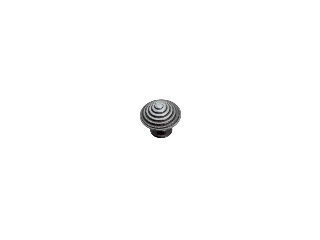 nábytková knopka rustikální Delicato starostříbro, 3105-S, rozteč